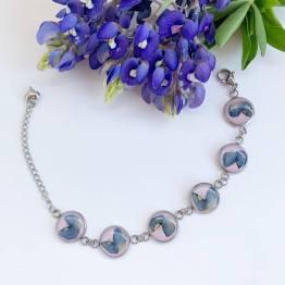 Artsy Flower Bracelet with Texas Bluebonnets