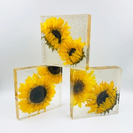 Yellow Hums Sunflower Decor Multiple - Artsy Flower