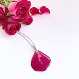 Artsy Flower Rose Petal Necklace