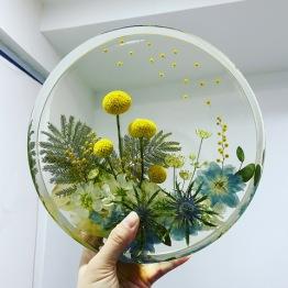Resinous Art 1 - Artsy Flower