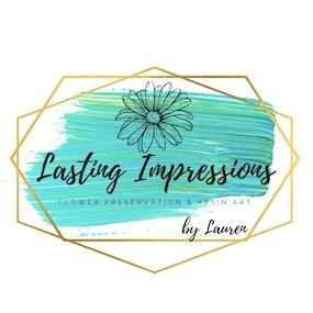 Modern Bouquet Preservation Lasting Impressions by Lauren Logo - ArtsyFlower.com