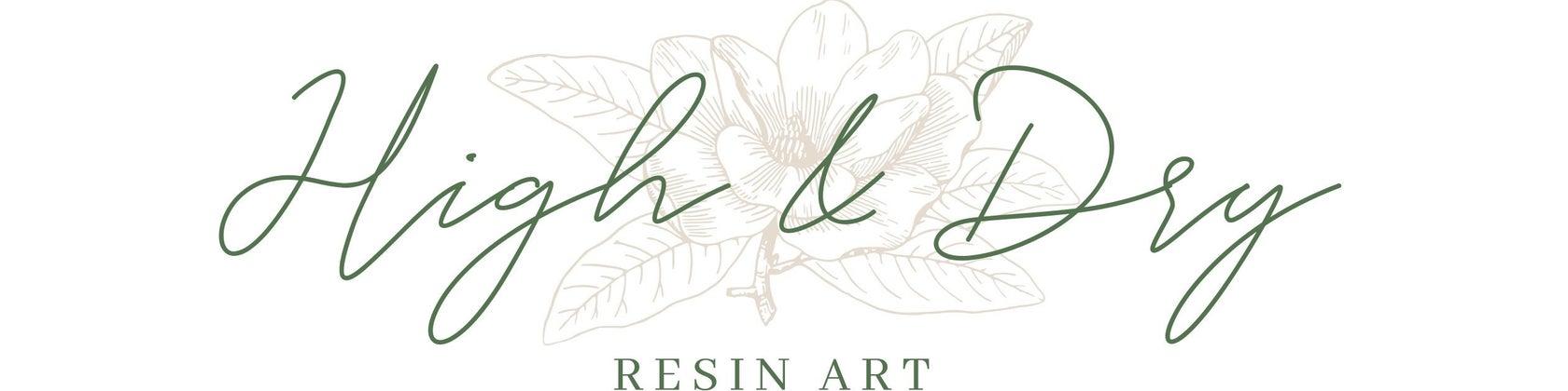 High & Dry Art Logo - Artsyflower.com