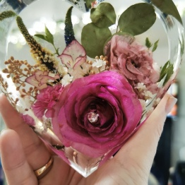 Modern Bridal Bouquet Preservation by Sparkles Bespoke Resins 5 - artsyflower.com