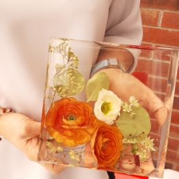 Modern Bridal Flower Preservation Art by Bsbowzart 1 - Artsyflower.com