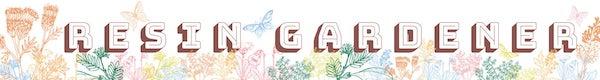 Modern Flower Preservation Art Resin Gardener Logo - Artsyflower.com