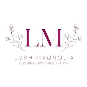 Modern Bridal Flower Preservation by Lush Magnolia Logo - artsyflower.com